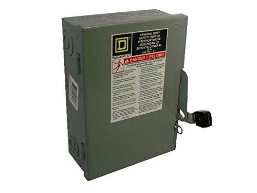 SQUARE D D321N 30A 240V 3P 3Ph N1 Fused Used