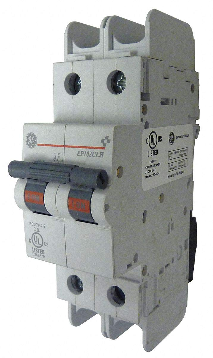 GE Miniature Circuit Breaker, 30 Amps, C Curve Type, Number of Poles: 2