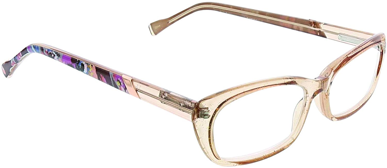 Vera Bradley Womens Tina Rectangular Reading Glasses, Indiana Rose, 2