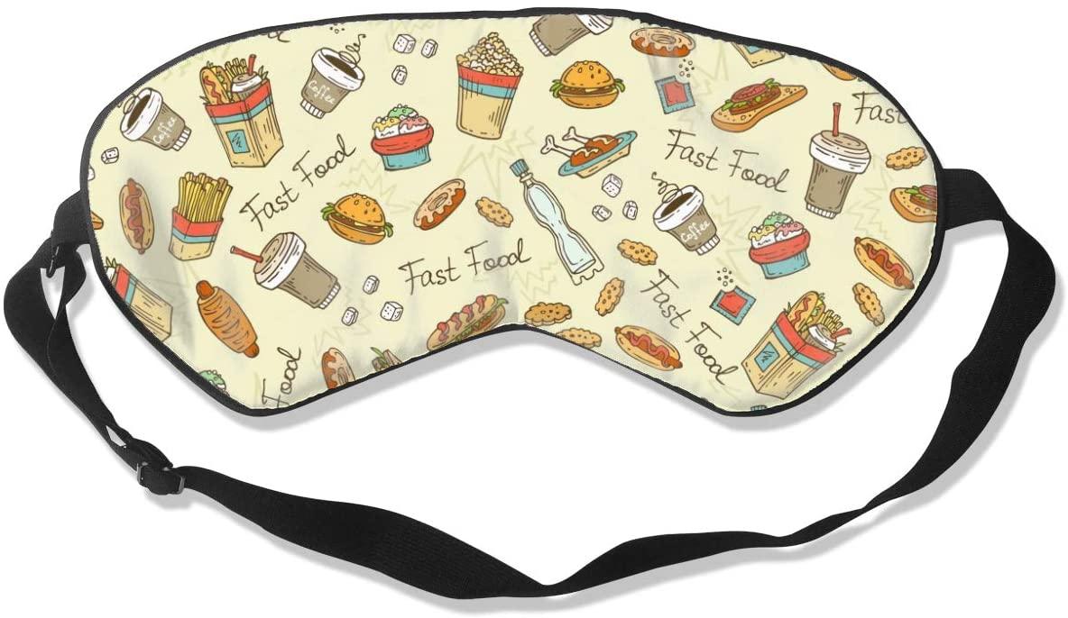 Sleep Eye Mask For Men Women,Cute Food Soft Comfort Eye Shade Cover For Sleeping