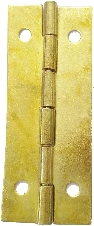 FixtureDisplays 2PK Brass Tone Home Furniture Hardware Door Hinge Cabinet Drawer Hinge Door Hinge Butt Hinge 18229-2PK-NF