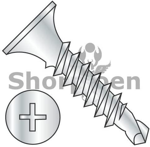 8-18X2 1/2 Phillips Bugle Head Full Thread Self Drilling Drywall Screw Zinc and Bake by SHORPIOEN - Box Quantity 2000 BC-0840KPGZ