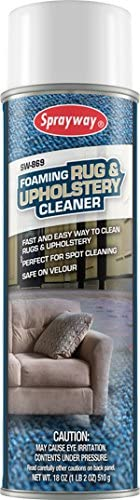 Sprayway SW869 Foaming Rug and Upholstery Cleaner, 18 oz