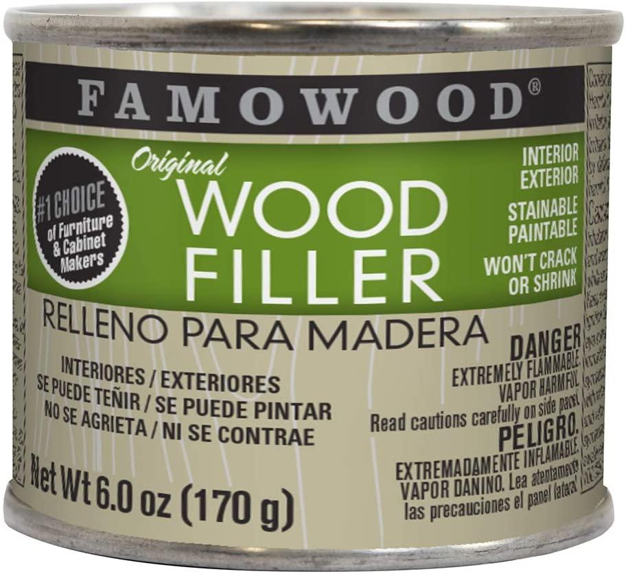FamoWood 36141110 Original Wood Filler - 1/4 Pint, Cherry