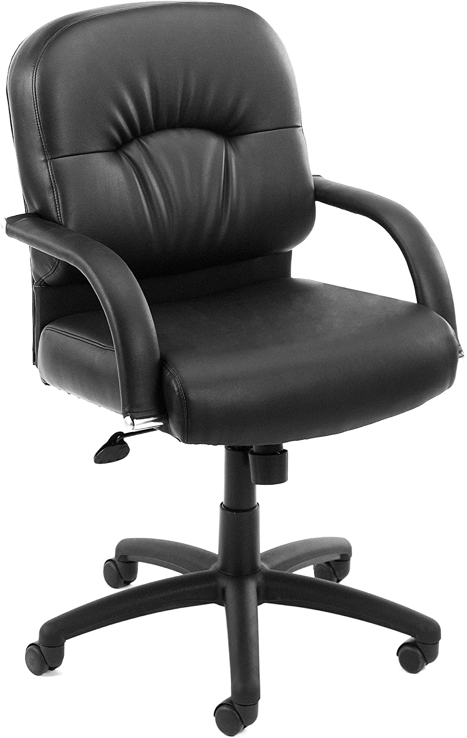 Boss Office Products Mid Back Caressoft Chair in Black