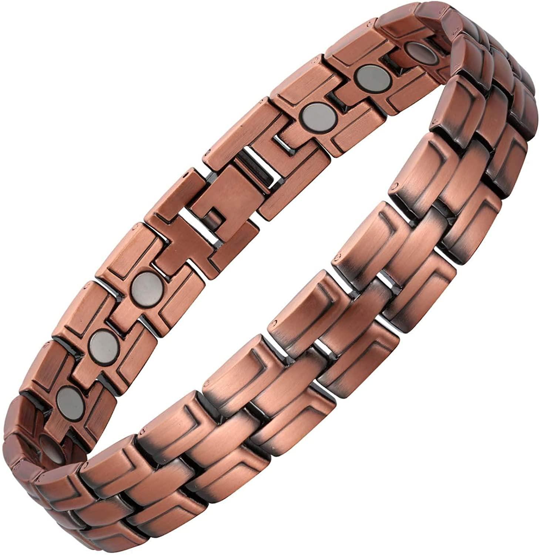 Copper Bracelet Men Magnetic Bracelet adjustable size Pain Relief for Arthritis and Carpal Tunnel Migraines Tennis elbow