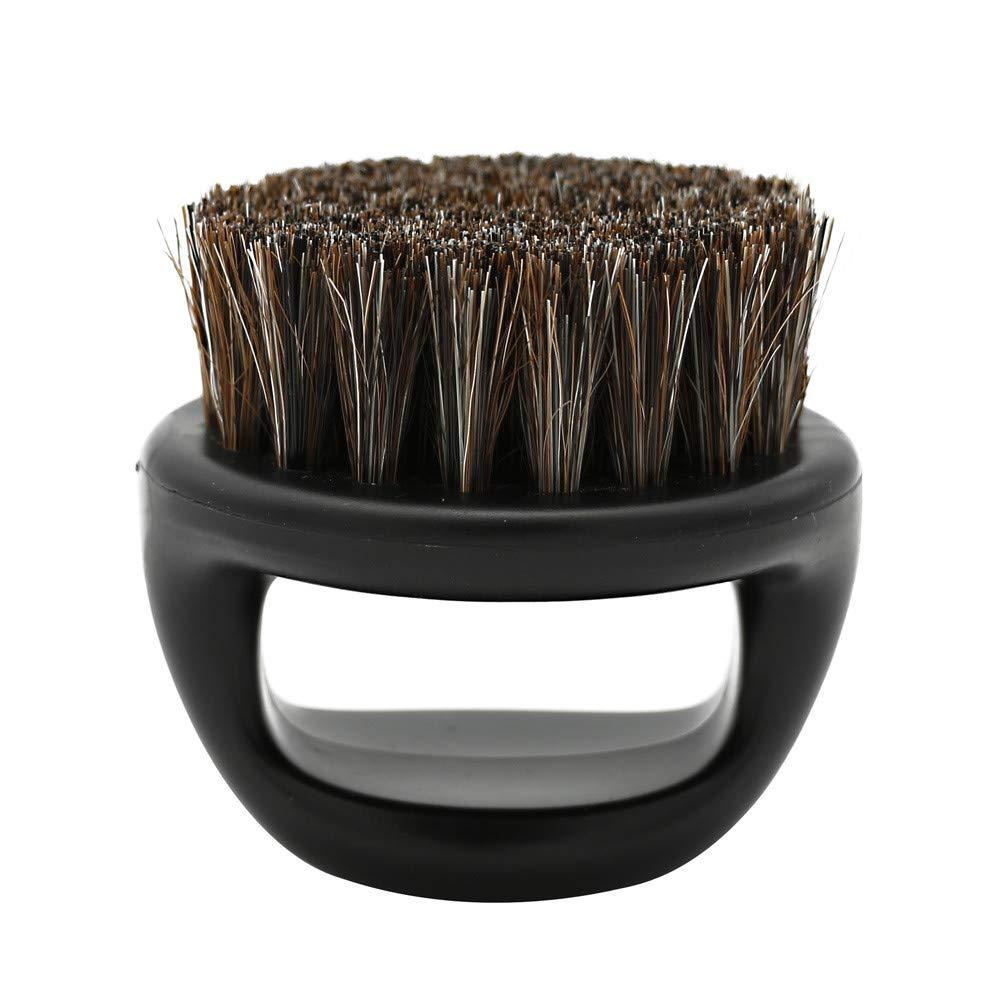 Makeup Brush Cleaner, Men Shaving Brush Best Horsehair Shave Wood Handle Razor Barber Tool (Multicolor)