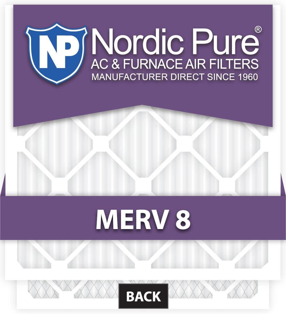 8x20x4 Exact MERV 8 AC Furnace Filters Qty 2
