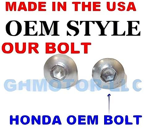 GHMotor BOLTS and WASHERS OEM Style Fairing Bolts Fasteners Screws Kit Set MADE IN USA for 1993 1994 CBR 900RR Silver