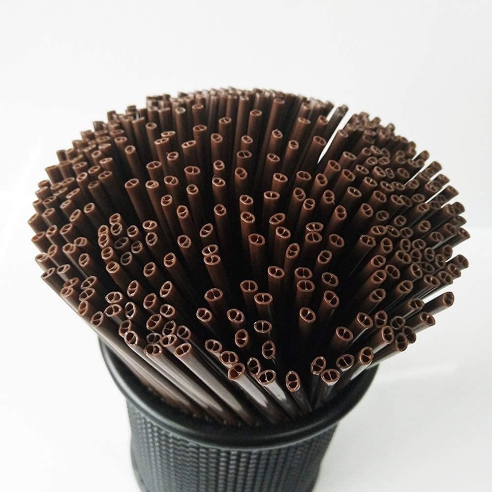 Qsir Disposable Coffee Stir Bar Coffee Straws Hot Drink Straws Double-hole Juice Straws Two Holes 18cm 1000 Sticks