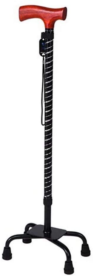 GaoFan Elderly Crutches Walker,Adjustable Quad Cane,Heavy Duty Large Base,B