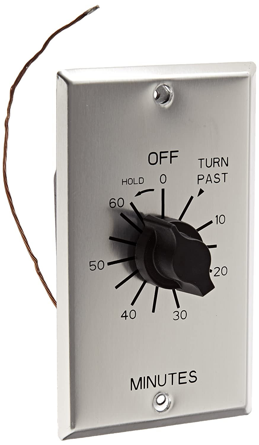 C Series Commercial Style Sringwound Auto Off in-Wall Time Switch with Hold, 60 Minute Timer Length, SPST Switch Type