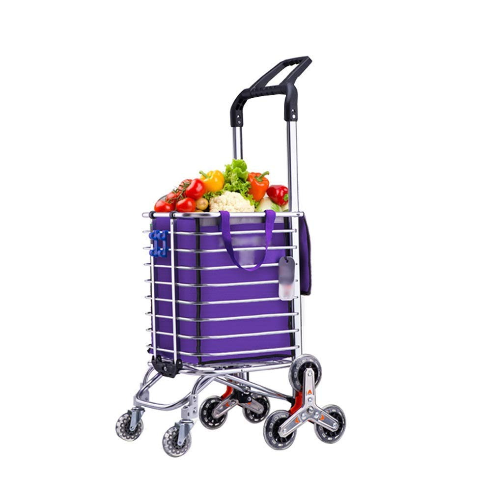 CHUNSHENN Folding portable household cart Hand Truck stainless steel triangle wheel foldable does not take up space