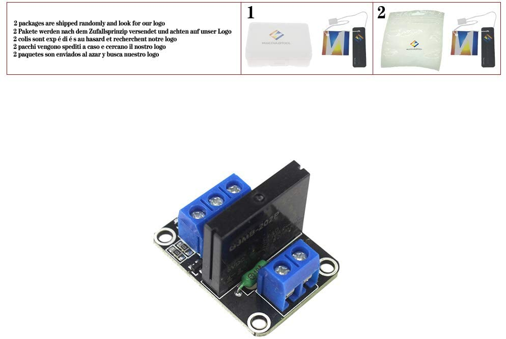 Smart Electronics 1/2/4 Channel 5V DC Relay Module Solid State Low Level G3MB-202P Relay SSR AVR DSP for arduino Diy Kit,1 Channel Relay