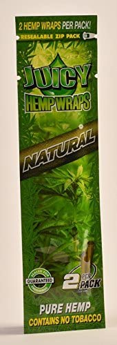 2 Total Natural Juicy Jays Hemp Wraps Natural Flavor + XL Beamer Doob Tube Pure Hemp Non Tobacco (1 Pack of 2) + Beamer Smoke Sticker Producers of Juicy Jays Rolling Papers
