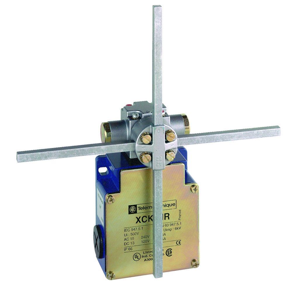 Telemecanique XCKMR54D1H29 Limit Switch, 240 VAC, 10 amp, Crossed Rods Lever
