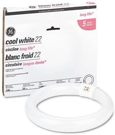 GE Lighting 33774 22 Watt Cool White Compact Fluorescent Circline Light Bulbs