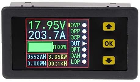 QWERTOUR Digital Multimeter Charge-Discharge Battery Tester DC 0-90V 0-20A Volt Amp Meter