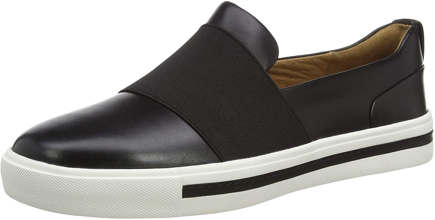 Clarks Women's Slipper, Black Black Leather Black Leather, Womens 8