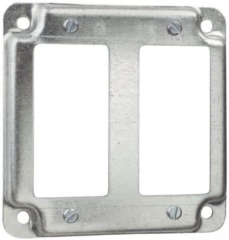 Thomas & Betts RS17-CC Pre-Galvanized Steel Outlet Box Cover 4 Inch x 4 Inch x 1/2 Inch Steel City