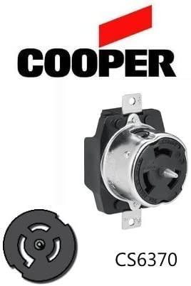 CS6369 50A Locking Receptacle, 125/250V, 3P/4W - Cooper # CS6369