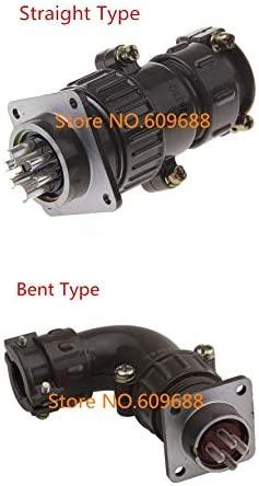 Davitu Electrical Equipments Supplies - P28 2 4 6 7 Pin Aviation Plug Socket,Aviation Circular Connector 28mm - (Color: bent, Package: forward mounting, Pins: 2P)