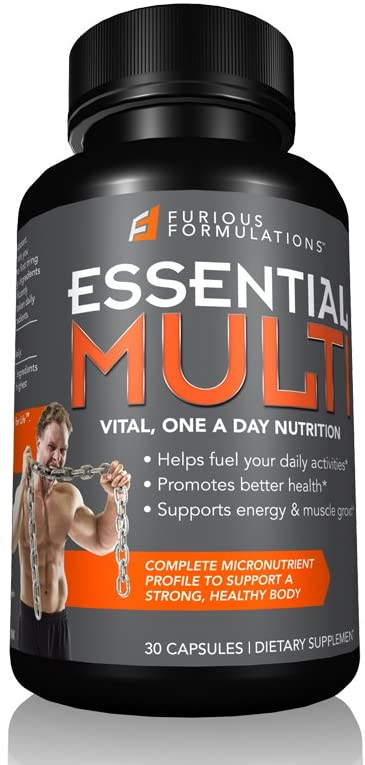 Furious FORMULATIONS, Essential Multi Vital, One A Day Nutrition, 30 Capsules