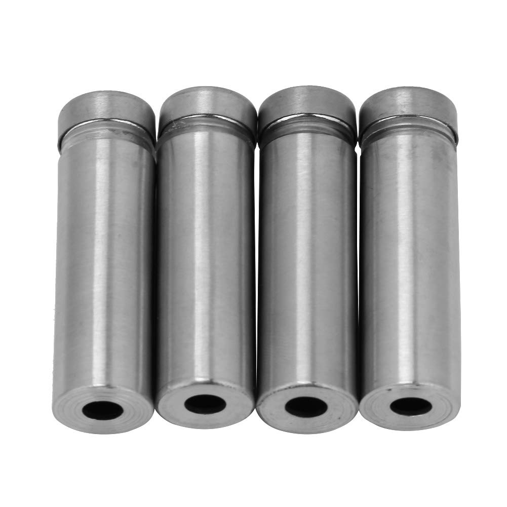 Advertising Standoff, 4pcs Stainless Steel Glass Standoff Bolts Advertising Nail Fixing Pin Mounts Fastener hex Nuts Glass Fastener(40)
