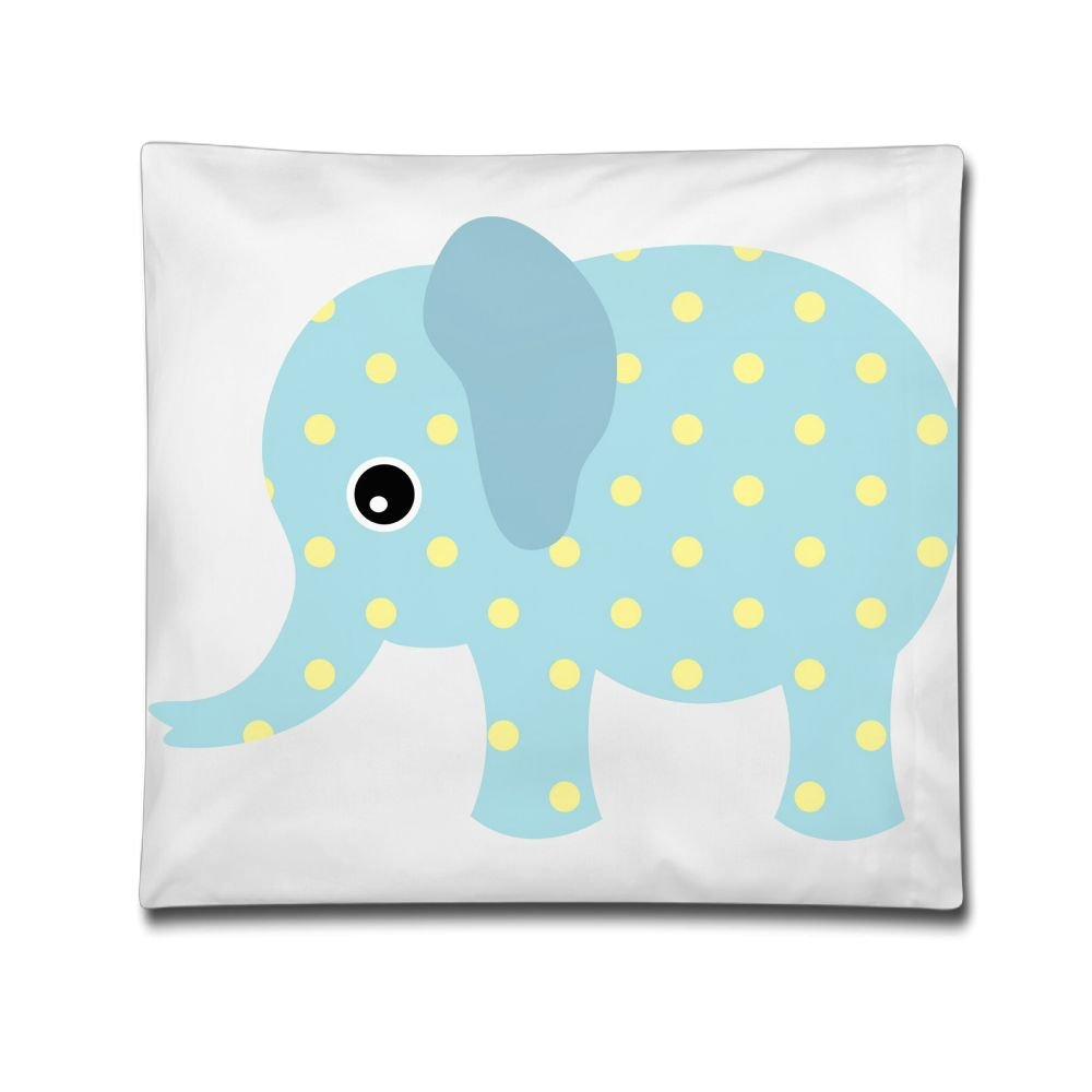 USYPILLOW Blue Elephant Decorative Square Accent Casual Pillow Case, 18 X 18 Inches