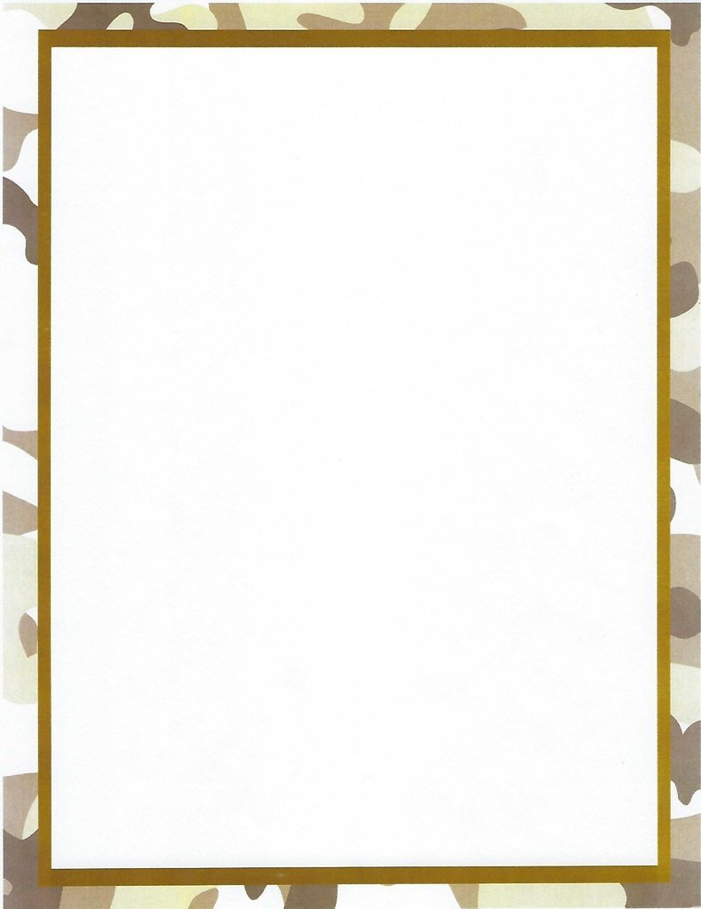 Brown Camouflage Stationery Printer Paper 26 Sheets