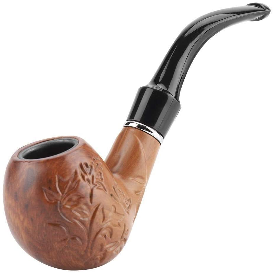 KSTE Collectible Durable Smoking Resin Pipe Carve Pattern Tobacco Cigarette Cigar Pipe
