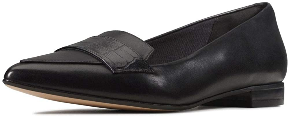 Clarks Women's Laina15 Loafer, Black (Black Combi Black Combi), 3 UK