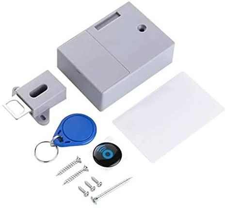 Xennos Locks - Invisible Hidden RFID Free Opening Intelligent Sensor Cabinet Lock Locker Wardrobe Shoe Cabinet Drawer Lock Safety Protect z1216 - (Color: Sky Blue)
