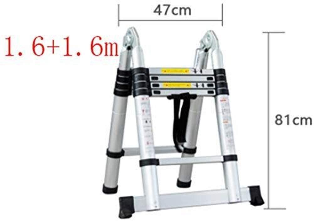 LADDERS Ladders Multi-Function Telescopic, Portable Aluminum Folding, in Line with En131 Standard, Bearing Weight 150Kg
