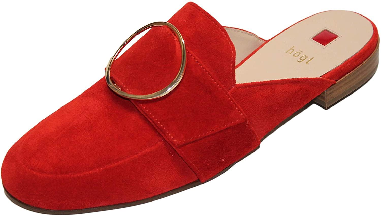 HÖGL Women's Mules, Red Scarlet 4300, Women 2