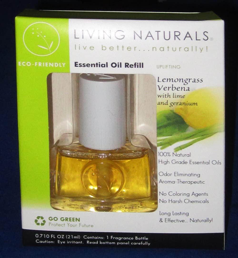 Living Natural Essential Oil Refill Uplifting Lemongrass Verbena