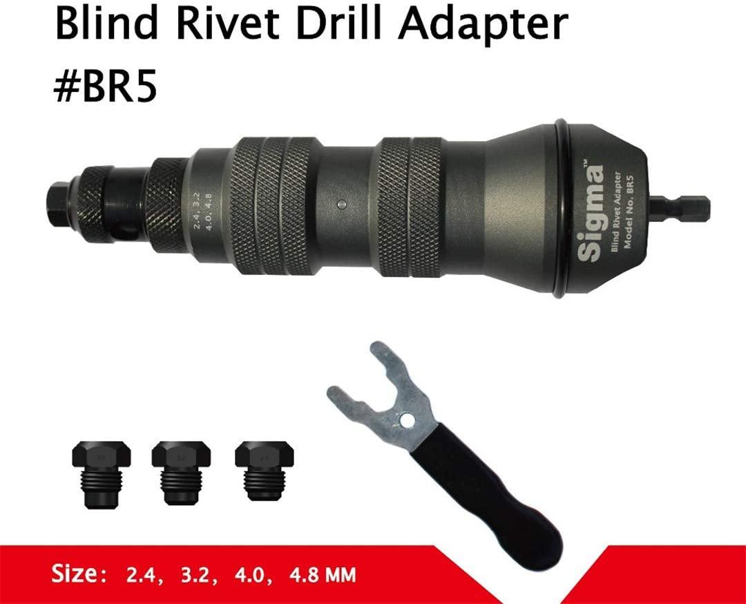 Rivet Drill Adapter Cordless Or Electric Power Drill Adaptor Alternative Air Pneumatic Riveter Rivet Gun GRAY