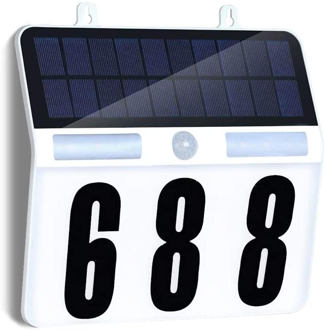 FORUP Lighted House Numbers, Solar House Number Sign with Waterproof 45 LED 3 Modes for Outdoor Address Numbers
