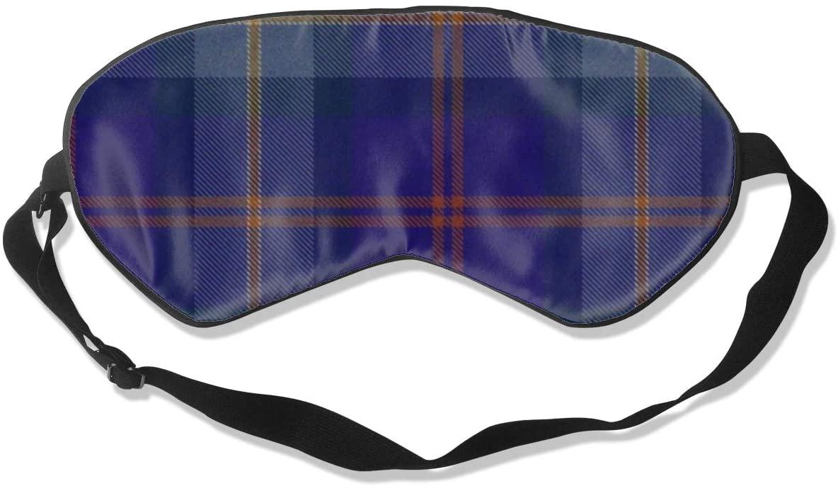 Blue Tartan Women Men Eye Shade Cover for Sleeping,Eye Mask for Night Sleep