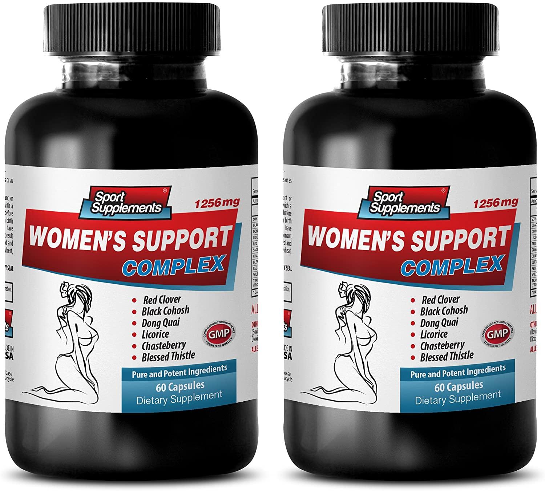 Blood Pressure Essentials - Women's Support Complex - Dong quai Black Cohosh - 2 Bottles (120 Capsules)