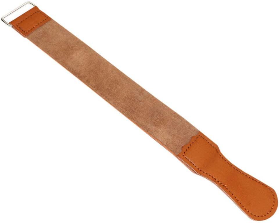 2 pcs Professional Straight Razor - Leather Sharpening Strap Barber - for Barber Male Shaving Tool