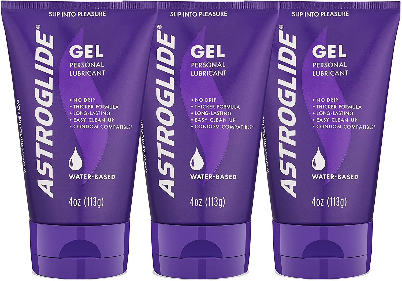 Astroglide Gel, Water Based Personal Lubricant, 4 oz. (Pack of 3)