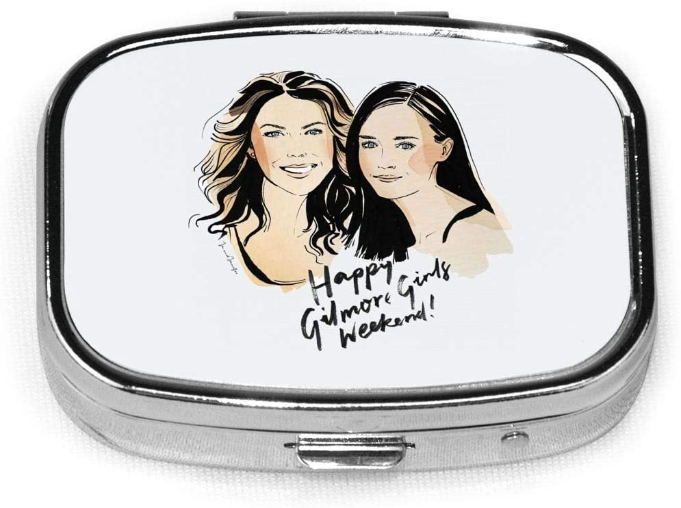 Gilmore Girls Custom Personalized Square Pill Box.Pill Box Button Open-Easy to Open Design; Lightweight and Portable-A Good Travel Accessory.