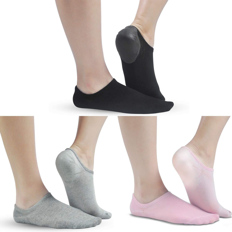 Soft Gel Heel Ankle Socks Stealth No Show Socks For Women Men