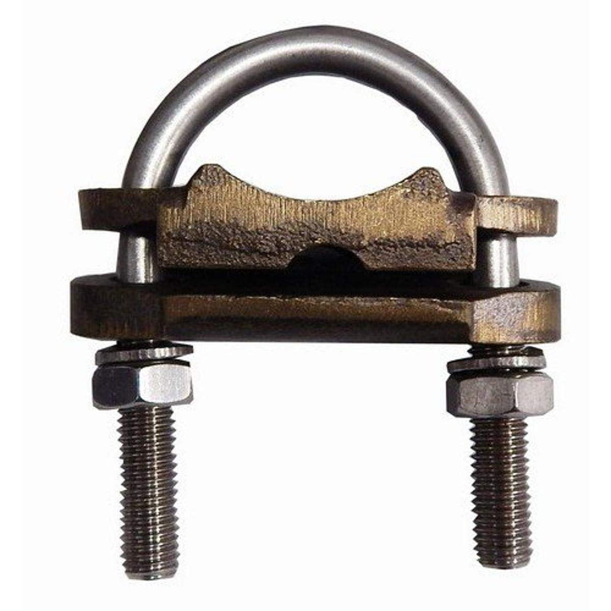 Morris 91735 Morris Products 91735 U Bolt Ground Clamp, Copper, 1 Conductor, #4 - 2/0 Wire Range, 1/2 Pipe Size