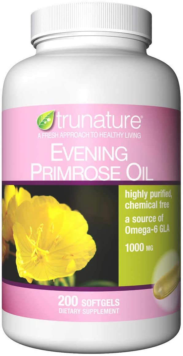 Evaxo Evening Primrose Oil 1000 mg, 200 Softgels A Source of Omega-6 GLA Highly Purified.#B