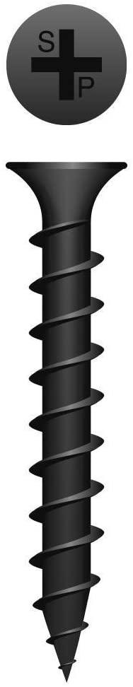 (10000) 6x1 Phillips Bugle Head Coarse Thread Black Phosphate Coated Drywall Screw #137959