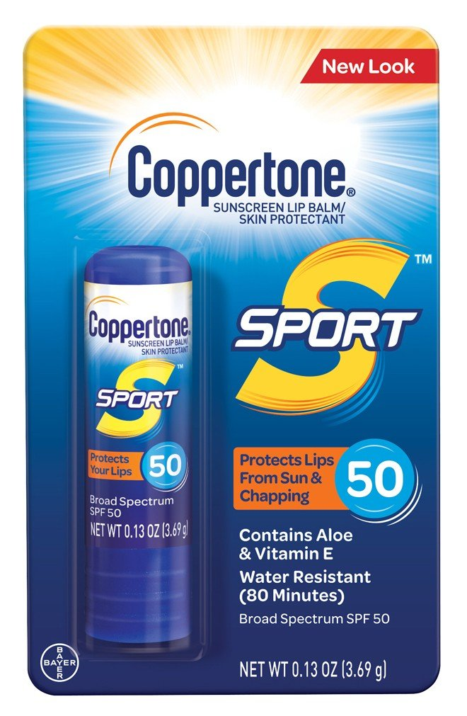 Coppertone Spf#50 Sport Lip Balm 0.13 Ounce (3ml) (3 Pack)