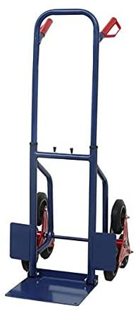 Heavy Duty Blue Stair Climbing Moving Dolly Hand Truck Warehouse Appliance Cart for Home and Work