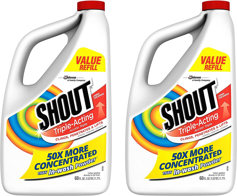 Shout Stain Remover Liquid Refill - 60 oz - 2 pk